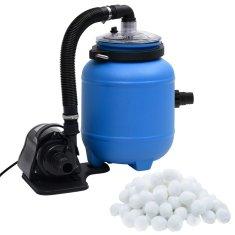 shumee Pompa filtracyjna do basenu, czarno-niebieska, 4 m³/h