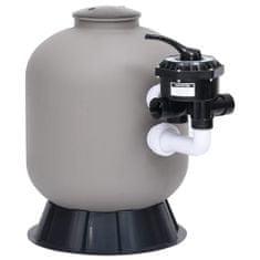 shumee Piaskowy filtr basenowy, boczny montaż, zawór 6-drożny, szary