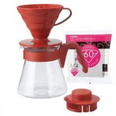 Hario Sada Pour Over Kit V60-02 červený