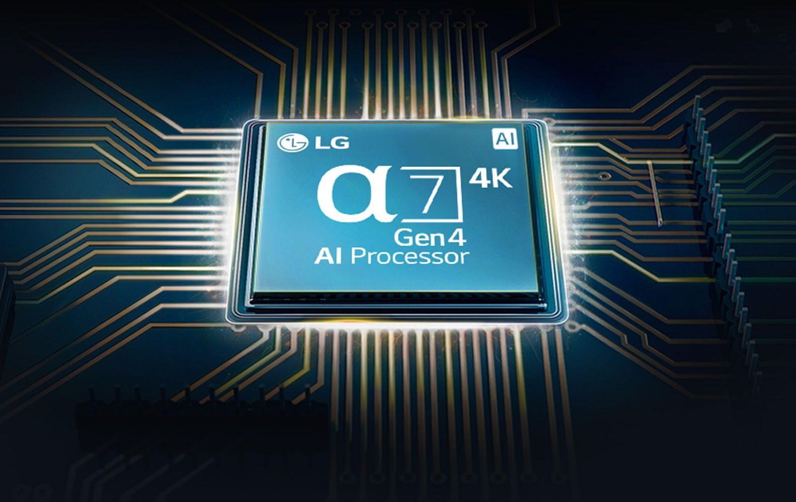 LG TV televízor OLED 4K 2021 procesor α7 4K Gen4 AI