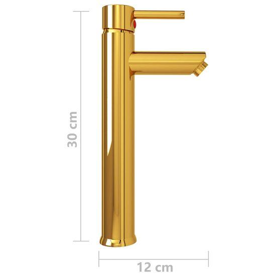 shumee aranyszínű fürdőszobai keverős csaptelep 12 x 30 cm