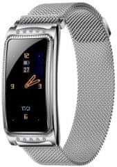 Immax chytré hodinky Crystal Fit, stříbrné (HODIMM1068)