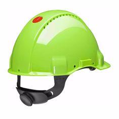 3M Přilba G3000NUV-GB Fluorescenční s ventilací, plastové potítko, kolečko