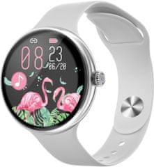 Immax chytré hodinky Lady Music Fit, strieborná (09039)