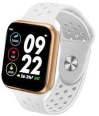 Immax chytré hodinky SW13 PRO, bielo-zlaté (HODIMM1071)