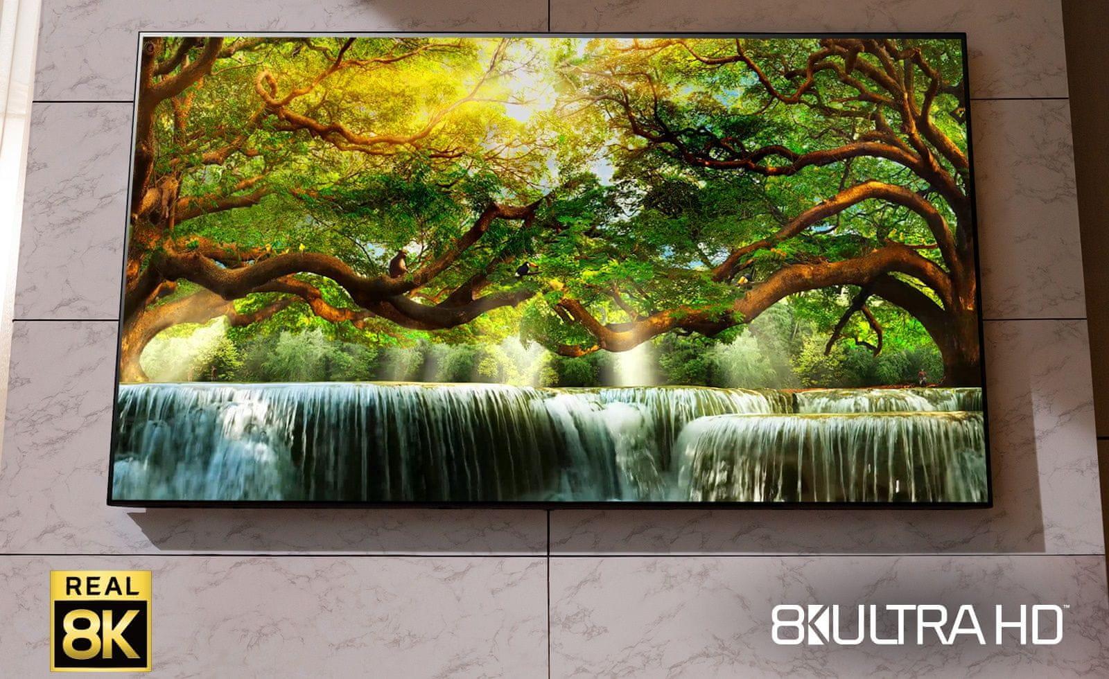 LG TV televize NANOCELL 8K 2021 33 milionů pixelů pravé 8K rozlišení