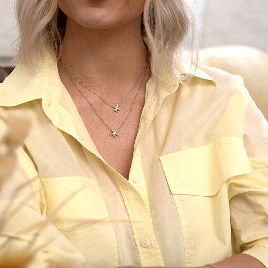 Hot Diamonds Srebrny naszyjnik z prawdziwym diamentem Daisy DN132 srebro 925/1000