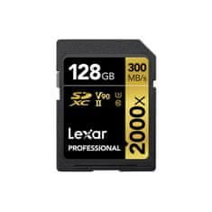 Lexar spominska kartica SDXC 128GB UHS-II V90 (R:300/W:260MB/s)