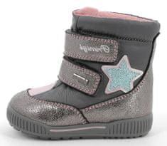 Primigi buty zimowe do kostki dziewczęce z membraną Goretex 8363900 21 szare