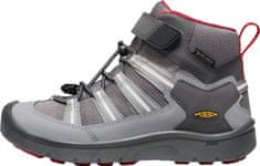 KEEN Hikeport 2 Sport Mid WP Y otroški usnjeni čevlji, magnet/chili pepper, 39, sivi