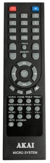 Akai AM-301 BK mikrorendszer, FM rádió/CD, Bluetooth, MP3, USB, fekete színben