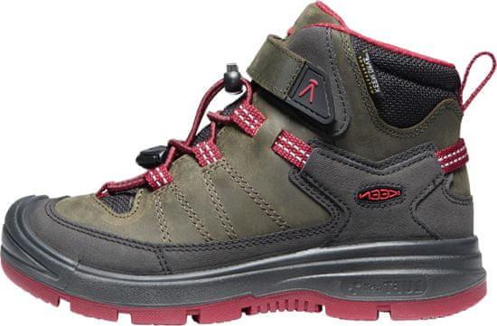 KEEN otroški zimski škornji Redwood MID WP Y steel grey/red dahlia
