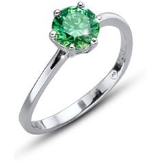 Oliver Weber Morning Brilliance Large ezüst gyűrű zöld színű kristállyal 63220 GRE (Kerület L (56 - 59 mm)) ezüst 925/1000