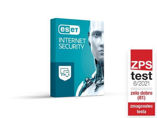 ESET Internet Security Pack 3 BOX spletna zaščita, 1 leto