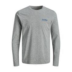 Jack&Jones JACSMITH moška majica 12191376 Light Grey Melange (Velikost M)