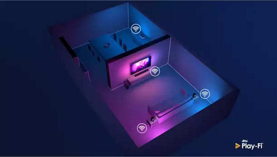 Večprostorski zvok z DTS Play-Fi