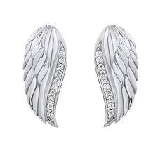 Silvego Błyszczące srebroKolczyki Skrzydła anioła z cyrkoniami Lasha FW10187E