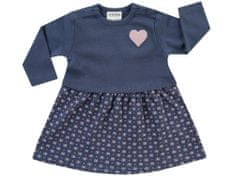 JACKY dievčenské šaty s dlhým rukávom Dresses 3921600 68 tmavomodrá