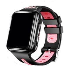 Klarion Detské čierno-ružové 4G smart hodinky E10-2020