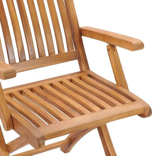 shumee Skladacie záhradné stoličky s vankúšmi 6 ks teakové drevo