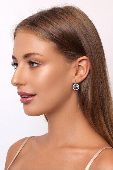 Brilio Silver Ezüst fülbevaló cirkónium kővel Életfa EA70
