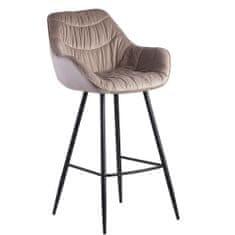 Bruxxi Barová stolička Gepo, zamat, béžová