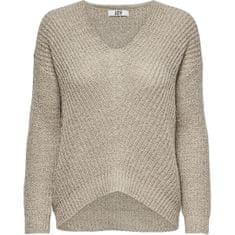 Jacqueline de Yong Ženski pulover JDYNEW 15208245 Cement (Velikost XS)