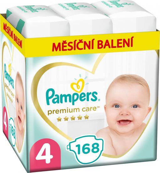 Pampers Pleny Premium Care 4 Maxi (9-14 kg) 168 ks