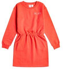 Roxy dekliška obleka v zasnovi puloverja Sunday Smile ERGKD03178-RMZ0, 6, oranžna