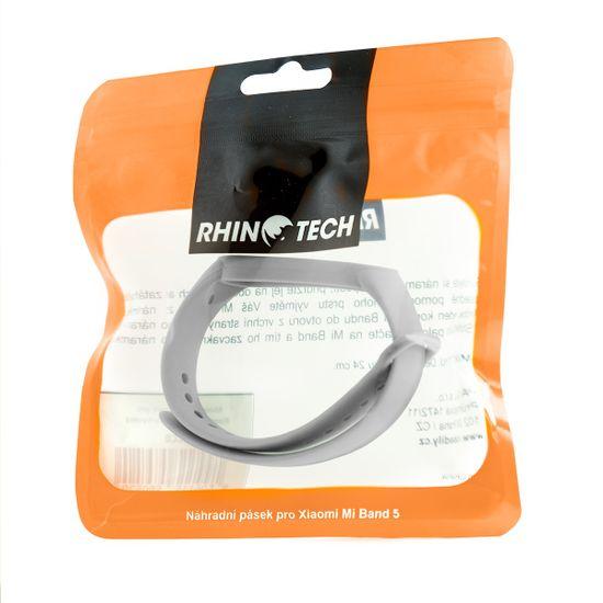 RhinoTech pásik pre Xiaomi Mi Band 5 RTACC037, sivý