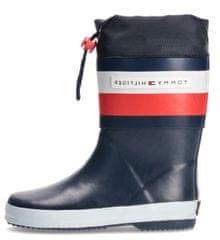 Tommy Hilfiger otroški škornji T3X6-32105-1235800, 37, temno modri