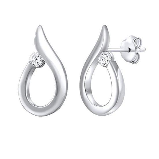Silvego Gyengéd ezüst fülbevaló cirkónium kővel QRE001K