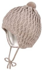 Maximo dětská kojenecká vlněná čepička se zavazováním 05571-365400_2 37 béžová