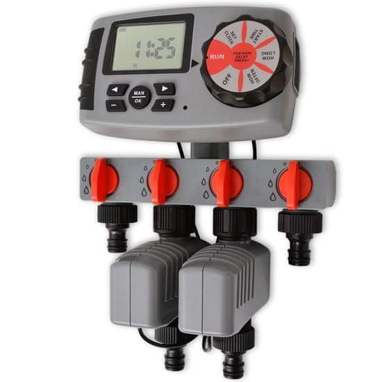 shumee Automatický časovač zavlažovania so 4 stanicami a senzorom vlhkosti 3 V