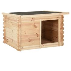 shumee Buda dla psa, 150x120x80 cm, lite drewno sosnowe