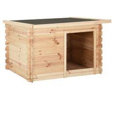 shumee Buda dla psa, 120x100x80 cm, lite drewno sosnowe
