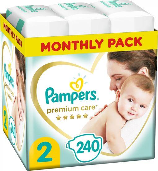 Pampers Premium Care pleničke, velikost 2, 4-8 kg, 240 kosov