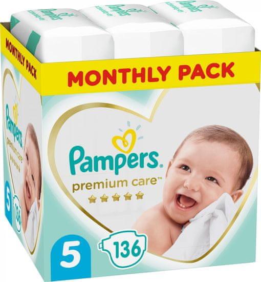 Pampers dječje pelene Premium Care 5 Junior (11-16 kg) 136 komada