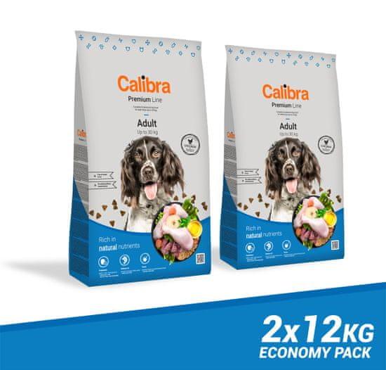 Calibra Premium Line Adult hrana za odrasle pse, 2 x 12 kg