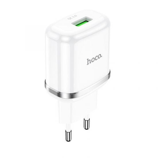 Hoco adapter za punjač za pametni dom N3 18W s 3.0 utikačem QC USB, bijeli