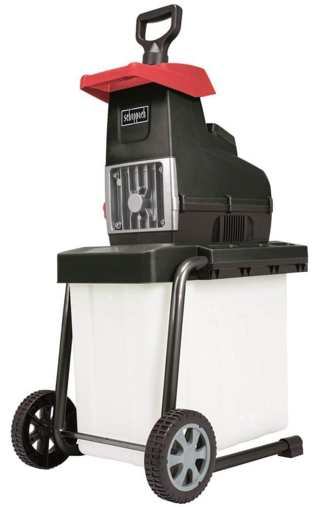 Scheppach GS 60 Elektrický válcový drtič 2800 W s transparentním boxem