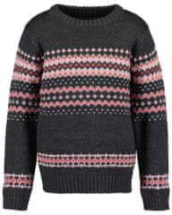 Blue Seven 769084 X_1 dekliški pulover, temno siv, 92