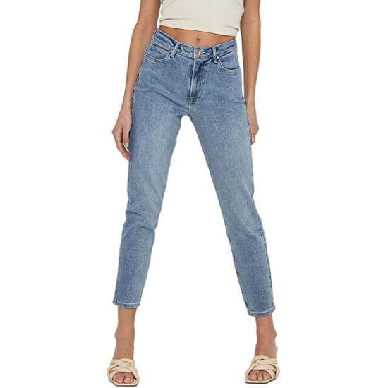 Jacqueline de Yong Dámské džíny JDYKAJA LIFE Straight Fit 15222844 Light Blue Denim