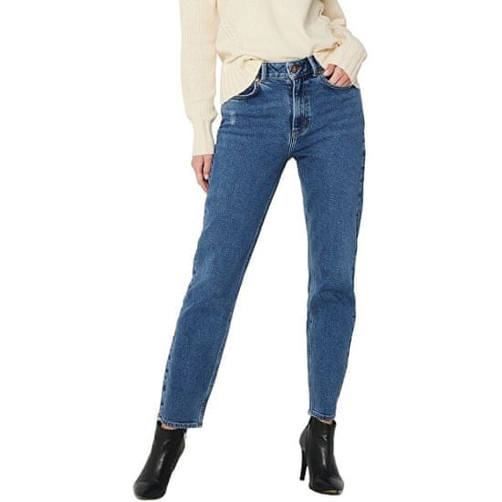 Jacqueline de Yong Dámské džíny JDYKAJA LIFE Straight Fit 15216501 Medium Blue Denim