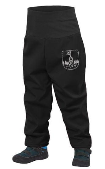 Unuo detské batoľacie softshellové nohavice s fleecom SLIM