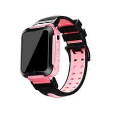 Klarion Detské čierno-ružové 4G smart hodinky E7-2020