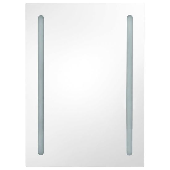 shumee LED kopalniška omarica z ogledalom siva 50x13x70 cm