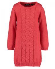 Blue Seven dívčí pletené šaty 773626 X 92 červená