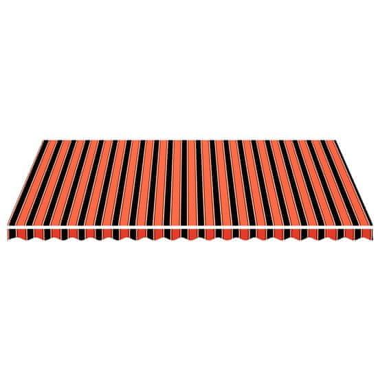 shumee Zapasowa tkanina na markizę, pomarańczowo-brązowa, 5x3,5 m