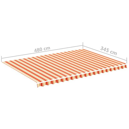 shumee sárga és narancssárga csere napellenző ponyva 5 x 3,5 m